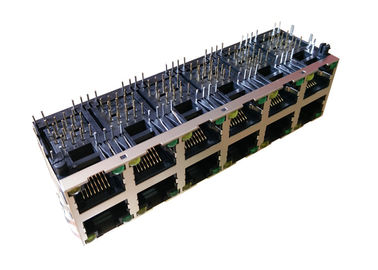 China ARJM26A1-811-AB-CW2 Stacked 5G Base - T Rj45 2x6 Jack For Industrial Network supplier