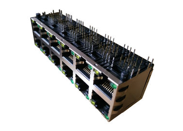 China ARJM26A1-A12-AB-EW2 Stacked 2x6 Port RJ45 Magjack 10/100 Base - T supplier