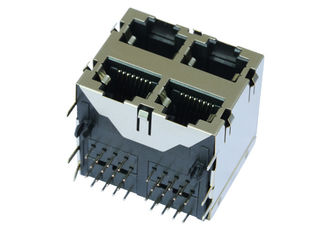 China ARJM22A1-811-NN-CW2 5G Base - T 2x2 Ports Stacked RJ45 Jack Without LED supplier