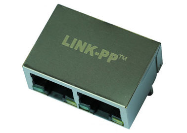 China ARJM12A2-805-AB-EW2 Multi-port RJ45 1x2 Connector 2.5G Base - T Magnetic supplier