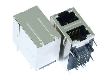 China 3-1840898-5 Stacked RJ45 2X1 10/100 Base-T Side Entry Mounting LPJG17102A96NL supplier