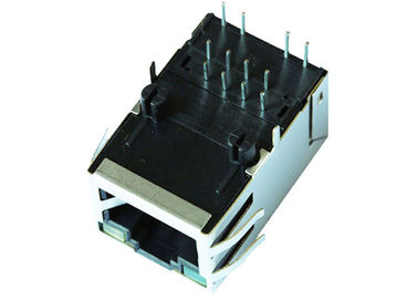 China ARJM11C7-811-AB-ER2-T 5G base-t Female 1X1 RJ45 Connector With LEDs supplier