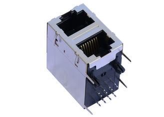 China ARJM21A1-805-NN-EW2 Stacked RJ45 2x1 With 2.5G Base - T Magnetics Connector supplier