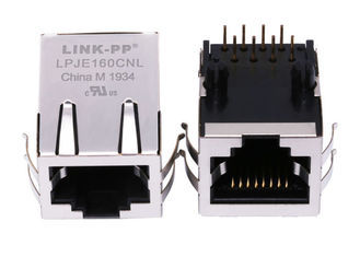 China 5406299-1 Tab Down Single Port RJ45 Modular Jack Without Magnetic LPJE160CNL supplier