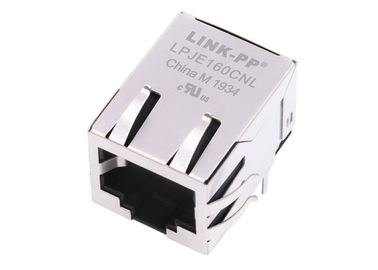 China TM11R-5N2-88 Tab Down Single Port RJ45 Modular Jack Without Magnetic LPJE160CNL supplier