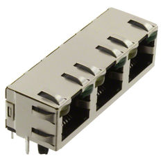 China LPJE843AGNL 1X3 Multi-Port RJ45 Connector Without Integrated Magnetics 6116132-1 supplier
