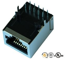China 3070-110204 Magnetic RJ45 Jack 10 / 100M LPJ4012DNL Network Routers Switches supplier