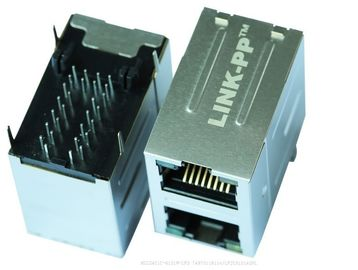MIC24A10-0101W-LF3 Stacked 2 x 1 Rj45 With 10 / 100Base-T Magnectics LPJ17202CNL