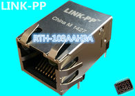 China RTH-103AAH3A Rj45 Magjack LPJ16222DNL 10 / 100Base-T Shielded without LEDs factory
