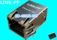 China SD-48025-007 Magnetic RJ45 Jack LPJ1035AHNL 10 / 100M 25.4mm Shiled With LEDs factory