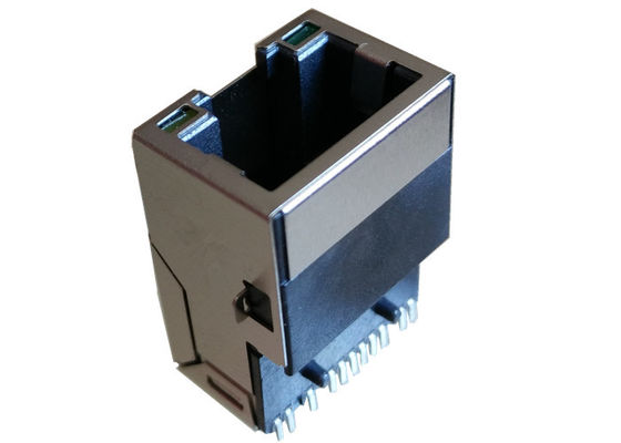 China MIC24121-5308W-LF3 SMT RJ45 Connector Integrated Surface Mount / Low Profile factory