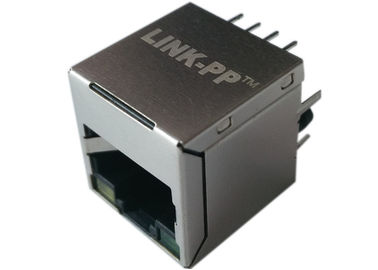 China POE Rj45 Top Entry 180 degree , LPJD0115BENL / LPJD4115BENL, IEEE802.3af distributor