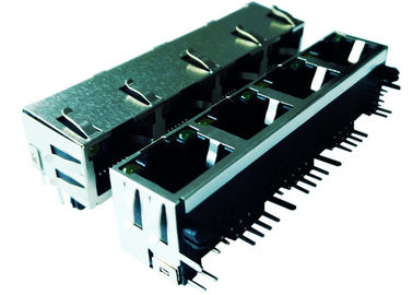 LPJE401AGNL Cross MRJMSA-104-8P8C-XX-U Rj45 Side Entry 1x4 Port Jack No Magnetic