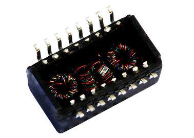 China LP41660ANL 10/100Base-tx POE+ Magnetics Transformer , 16Pins SMT Filter distributor