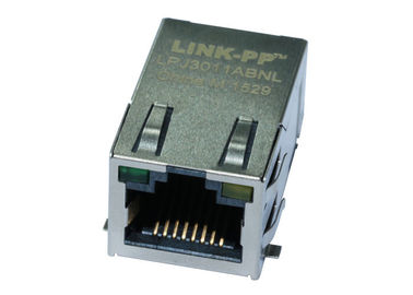 China JB0-1002NL Surface Mount RJ45 Jack 1X1 Port Tab Up With 10 / 100M LPJ3011ABNL distributor