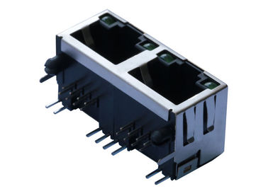 China MTJG-2-88ARX1-FSM-PG-LG 1X2 RJ45 Connector without Magnetics LPJE201AGNL factory