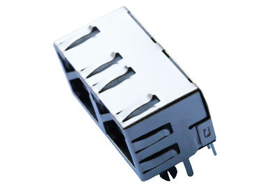 China RJHSE-538X-02 1X2 Multi - Port RJ45 Connector No Magnetics With LEDs LPJE201AGNL distributor