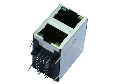 China RM3-ZZ-0019 Double Stacked RJ45 MagJacks 2 x 1 Integrated Transformer LPJG17561BHNL factory