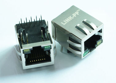 China RJP11A-MASA-B-A-EMU2 10/100 Base-T Single Port RJ45 Connector LPJ0284GDNL distributor