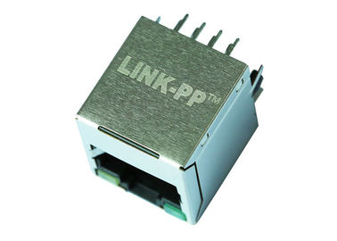 China RV1-10108K1A Vertical RJ45 Jack Connector LPJD0011DNL 10 / 100 BASE-T Magnetic factory