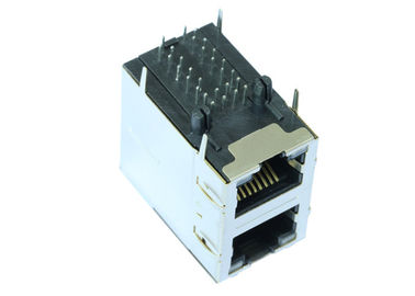 China Dual 2x1 Gigabit Stacked RJ45´s With Separated Middle Tabs LPJG17102A96NL factory