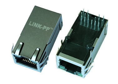 China LPJK9436-8AHNL RJ45 Modular Jack , 10G Base -T 1x1 Port Female RJ45 Connector factory