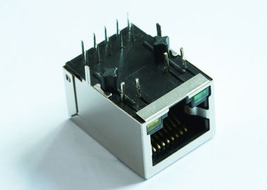 China ARJM11B1-805-AD-CW4 RJ45 Single Port Modular Jack Shielded 2.5Gigabit Filter factory