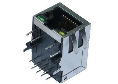 China ARJM11A1-805-AB-ER2-T 1x1 Port 2.5GBASE-T RJ45 Modular Jack With Transformer factory