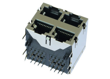China ARJM22A1-811-NN-CW2 5G Base - T 2x2 Ports Stacked RJ45 Jack Without LED factory