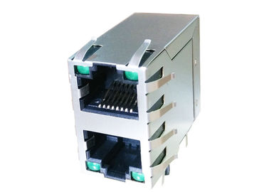 China ARJM21A1-A12-BA-EW2 2x1 Port Stacked Rj45 Right Angle with 10/100 Base-T factory