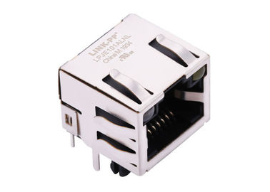China RJ45 Single Port XRJM-S-01-8-8-9 Right Angle Ethernet Connector 8p8c jack distributor