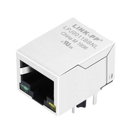 China J00-0045NL , Magnetic 1xRJ45 Jack 10/100Mbps Ethernet LPJ0011BBNL distributor