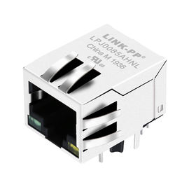 China LPJ0085AHNL Rj45 Modular Jack With Magnetics , 1x10/100Mbps IEEE 802.3af PoE distributor