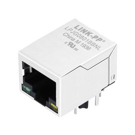China LPJG0801BBNL Coon Rj-45,Shield Thru-hole W/LEDs&Magnetic ,Gigabit 1:1,RoHs distributor