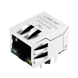 China JXD0-0002NL , LPJG4887GENL 1000Base-t Rj45 Pinout Magnetics Connector distributor