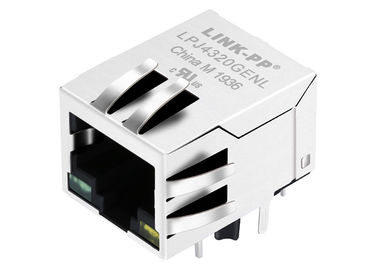 China LPJ4320GENL POE Connector RJ45 10 / 100Mbps Shielded W/LED Free Samples distributor