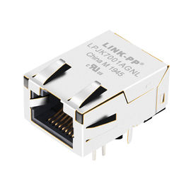 China LPJK7041A98NL Height 11.3mm Low-Profile Gigabit Rj45 LED Shield R/A THT distributor