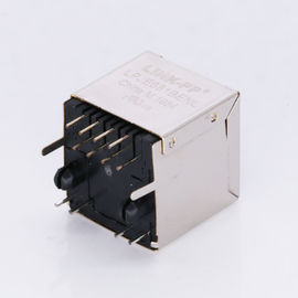 China LPJE681BENL Female Vertical Modular Jacks RJ45 8P8C Top Entry Socket HY-5224 factory