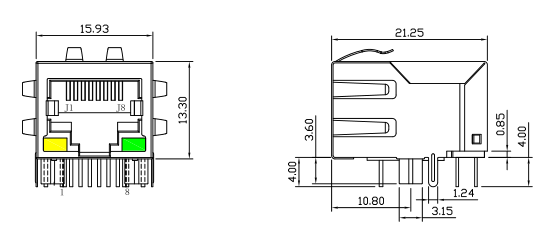 lpj0012gdnl rj45 magnetic jack cross 7499011121a built in