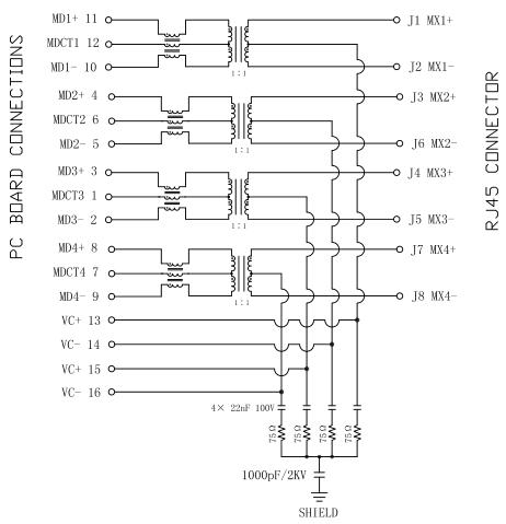 100 mbps rj45 wiring diagram hr911196a lan transformer rj45 1000 baset poe+ 10/100/1000 ... 100 amp alt wiring diagram ford motorcraft #9